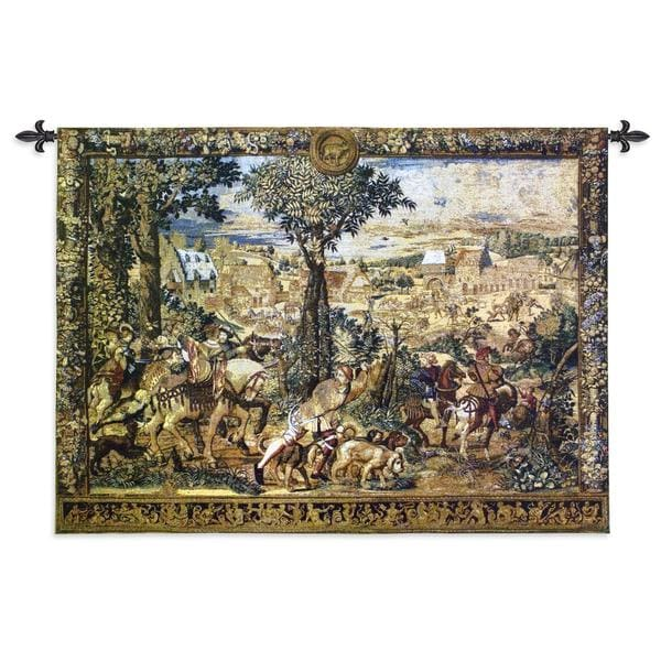 Fine Art Tapestries 'Hunting Parties of Archduke Maximilian' Cotton Wall Tapestry