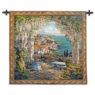 Fine Art Tapestries 'Seaview Hideaway' Small Wall Tapestry