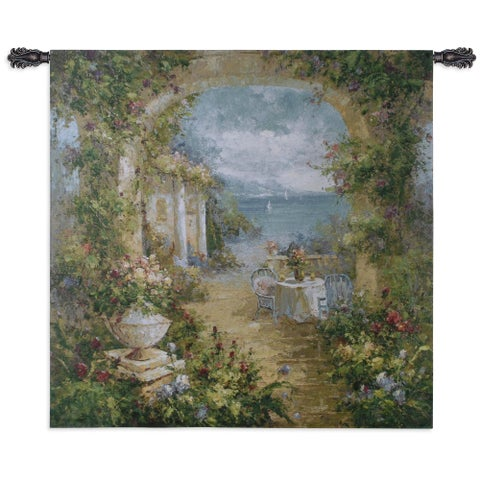 Fine Art Tapestries 'Mediterranean Arches II' Multicolored Cotton Large Wall Tapestry