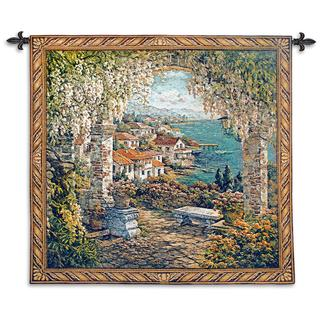 Fine Art Tapestries Seaview Hideaway Large Cotton Wall Tapestry
