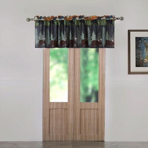 Greenland Home Fashions Black Bear Lodge Window Valance