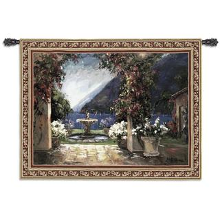 Fine Art Tapestries Seaside Fountain Small Cotton Wall Tapestry