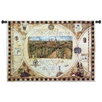 Fine Art Tapestries Hilltop Winery Cotton Wall Tapestry