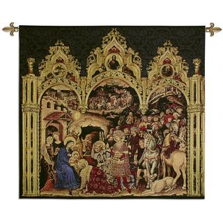 Gentile da Fabriano 'The Adoration of the Magi' Cotton Wall Tapestry