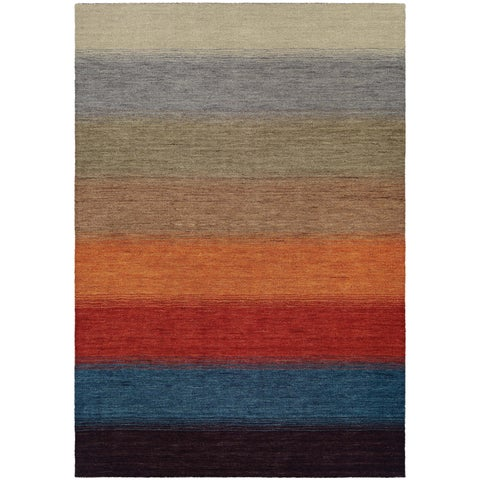 Couristan Oasis Lake Horizon Multicolor Wool Area Rug - multi-color - 2' x 4'