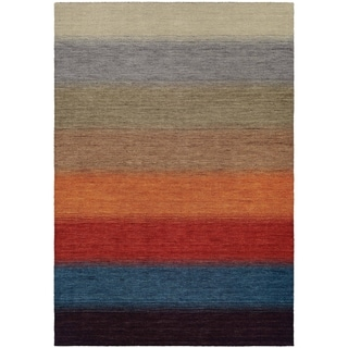 Couristan Oasis Lake Horizon/Multi Color, Virgin Wool Area Rug (5'6 x 8')