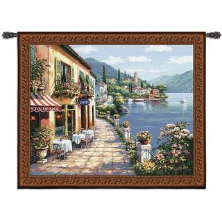 Fine Art Tapestries Overlook Cafe I Cotton Wall Tapestry