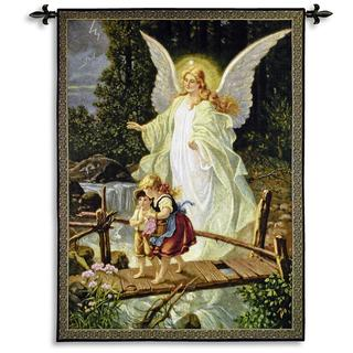 Fine Art Tapestries 'Guardian Angel 1900' Wall Tapestry