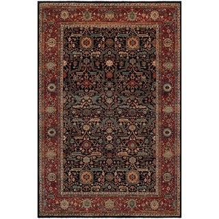 Couristan Old World Classics Joshagan/Navy-Rust Wool Area Rug - 4'6 x 6'6