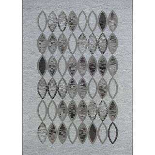Couristan Monaco Dune Path Silver Polypropylene Indoor/Outdoor Area Rug (5'3 x 7'6)