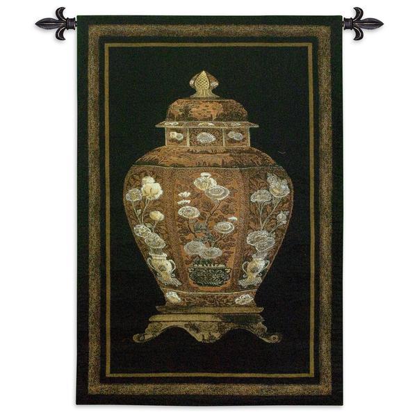 Fine Art Tapestries 'Oriental Jar I' Large Wall Tapestry