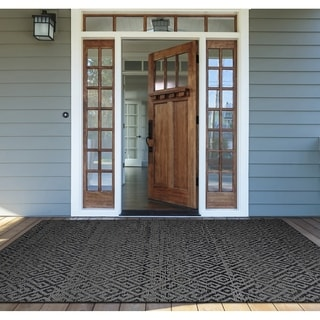Couristan Monaco Pavers/Black Indoor/Outdoor Area Rug (3'9 x 5'5)