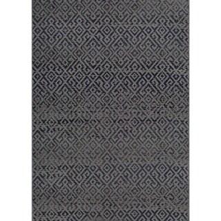 Couristan Monaco Pavers/Black Indoor/Outdoor Area Rug (5'10 x 9'2)