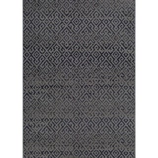 Couristan Monaco Pavers/Black Indoor/Outdoor Area Rug (5'10 x 9'2) (As Is Item)