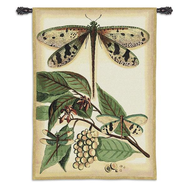 Fine Art Tapestries 'Lt Whimsical Dragonfly I' Cotton Wall Tapestry