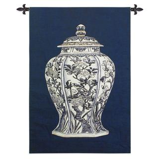 Oriental Blue II Large Wall Tapestry
