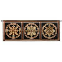 Fine Art Tapestries 'Rosette Foursome' Multicolored Cotton Wall Tapestry