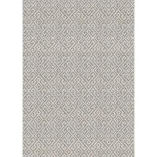Couristan Monaco Pavers Mocha Polypropylene Indoor/Outdoor Area Rug (3'9 x 5'5)