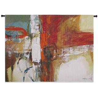 Fiine Art Tapestries 'Tangerine Tango' Multicolored Cotton Wall Tapestry