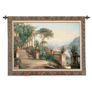 Fine Art Tapestries 'Lodge at Lake Como' Large Wall Tapestry