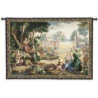 Fine Art Tapestries 'Romantic Pastoral Scene' Cotton and Wool Wall Tapestry