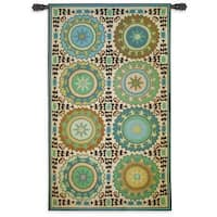Fine Art Tapestries Suzani Rosettes Cotton Wall Tapestry
