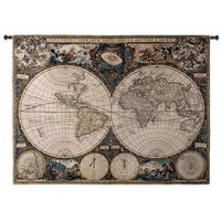 Old world map wall tapestry free shipping today overstock 15243509 old world map wall tapestry gumiabroncs Gallery