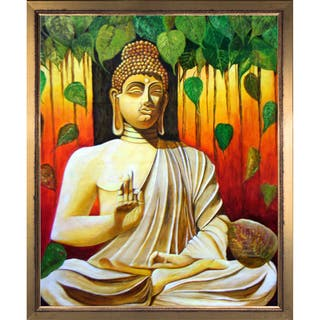 Neeraj Parswal 'Lord Buddha' Fine Art Print on Canvas
