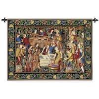 Fine Art Tapestries Les Vendanges Grape Harvest Cotton Wall Tapestry