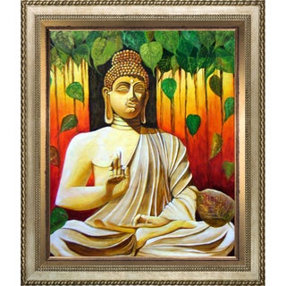 Neeraj Parswal 'Lord Buddha' Fine Art Print on Canvas