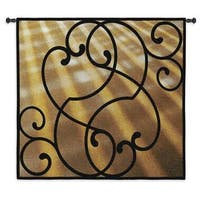 Fine Art Tapestries Sunlit Scroll Multicolor Cotton Wall Tapestry