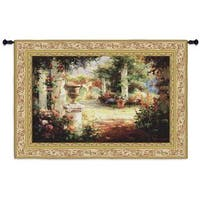 Fine Art Tapestries 'Sunlit Courtyard' Small Wall Tapestry