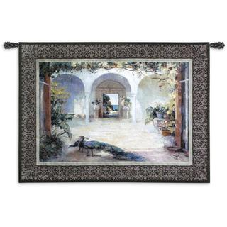 'Sunlit Courtyard' Cotton Wall Tapestry