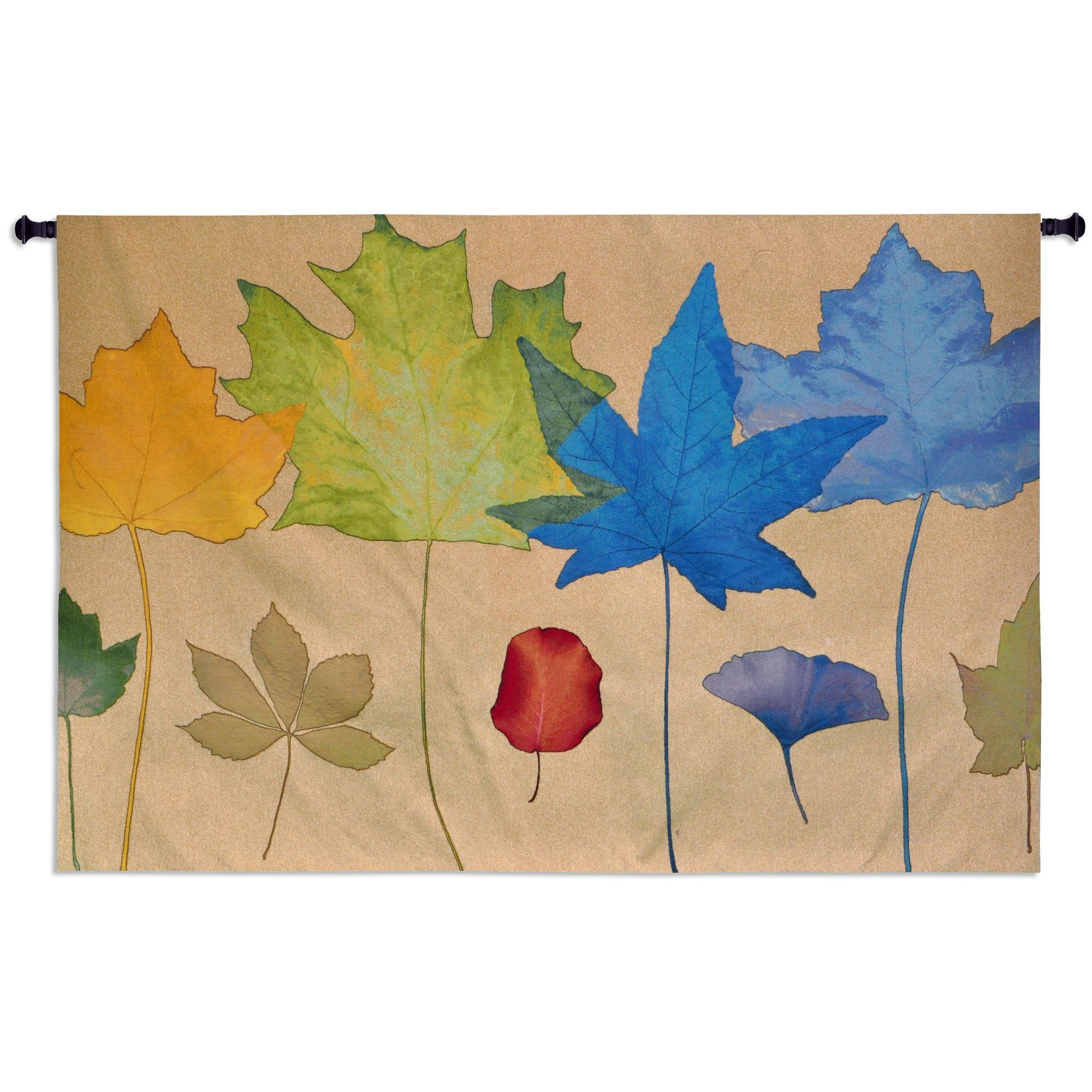 Fine Art Tapestries Leaf Dance Iii' Cotton Wall Tapestry ...