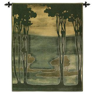Fine Art Tapestries Nouveau Trees I Cotton Wall Tapestry