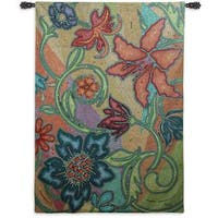 Fine Art Tapestries 'Garden Party Mosaic' Wall Tapestry
