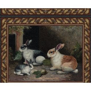 Fine Art Tapestries 'Lapin' Multicolored Cotton Wall Tapestry