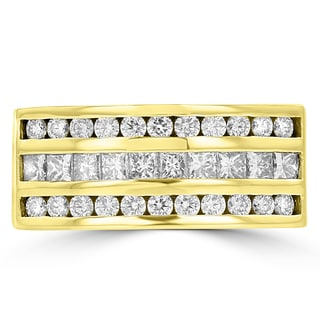 La Vita Vital 14k Yellow Gold Men's 1 3/5ct TDW Diamond Ring