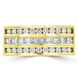 La Vita Vital 14k Yellow Gold Men's 1 3/5ct TDW Diamond Ring