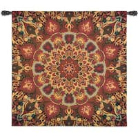 Fine Art Tapestries 'Rangoli Caramel' Cotton Wall Tapestry
