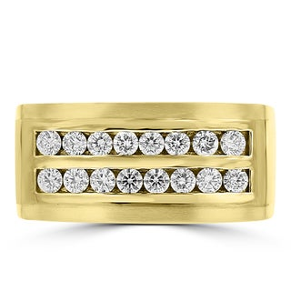 La Vita Vital 14k Yellow Gold Men's 3/4ct TDW Diamond Ring