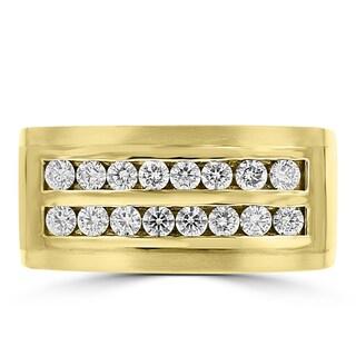 La Vita Vital 14k Yellow Gold Men's 3/4ct TDW Diamond Ring