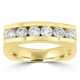 La Vita Vital 14k Yellow Gold Men's 1 1/2ct TDW Diamond Ring