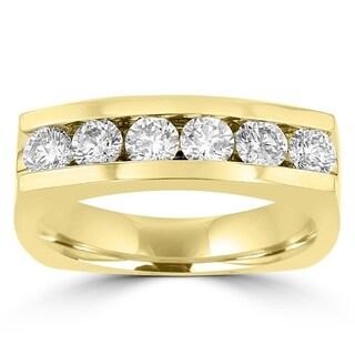 La Vita Vital 14K Yellow Gold Men's Diamond 1.45cts TDW Ring