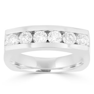 La Vita Vital 14k White Gold Men's Diamond 1.45cts TDW Ring