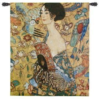 Fine Art Tapestries 'Lady With Fan' Wall Tapestry