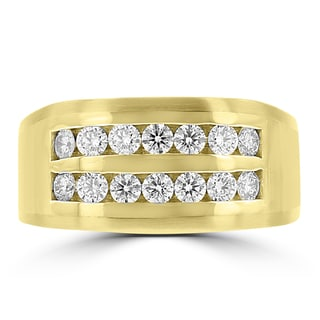 La Vita Vital 14k Yellow Gold Men's 1ct TDW Diamond Ring
