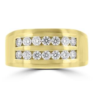 La Vita Vital 14k Yellow Gold Men's 1ct TDW Diamond Ring