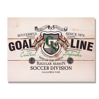 Goal Line Soccer 15x11 Indoor/Outdoor Full Color Cedar Wall Art