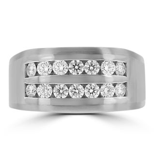 La Vita Vital 14k White Gold Men's 1ct TDW Diamond Ring